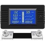 DC Multifunction Battery Monitor Meter,0-200V 0-100A LCD Display Digital Current Voltage Power Energy Meter Multimeter Ammete