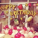 [NextBlue] 大人の ハッピーバースデイ 誕生日 アルミ バルーン 飾り シャンペンボトル グラス ケーキ ハート 風船