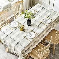 市松模様の縞模様のタッセルテーブルクロス/コットンリネンのテーブルクロス/カントリーホーム、台所カウンタートップの装飾に適して (色 : B, Size : 60x60)