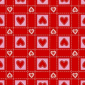タカ印 包装紙 ハートパッチ赤 35-2524 半才判 コート紙 50枚入