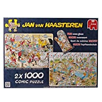 2x1000pc Jan Van Haasteren Food Frenzy Jigsaw Puzzles