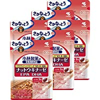 小林製薬の栄養補助食品 ナットウキナーゼ EPA DHA 約30日分 30粒×6個パック