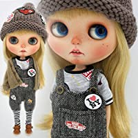 (ドーリア)Dollia ブライス 1/6ドール用 アウトフィット パンクファッション セット 3点セット カーディガン シャツ オーバーオール ネオブライス ドール 人形