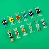 Trolleyshop 12pcs Vintage Murano Style Glass Sweets Candy Ornament for Home Party Wedding Christmas Festival Decorations Gift