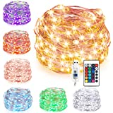 Kohree LED String Lights,USB Powered Multi Color Changing String Lights With Remote,50leds Indoor Decorative Silver Wire Lights for Bedroom ,Patio,Outdoor Garden,Stroller,DecorTree.(16.4ft)