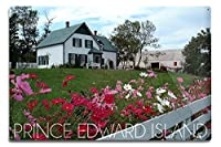 Prince Edward島 – Green Gables House and Gardens 12 x 18 Metal Sign LANT-53766-12x18M