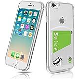 iPhone 7/ iPhone 8/iPhoneSE 2世代 (2020) 高透明 TPUケース iPhone 8 TPUケース カード収納 Cavor iPhone 8 背面 財布型 ケース クリア 4.7インチ 指紋防止 落下防止 薄型軽量 Q