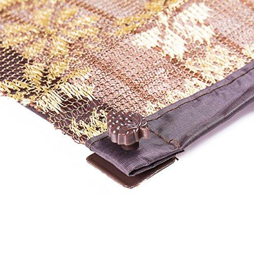 ホームセンターのエルフ磁気スクリーンドアピンステッカーnoピン穴フルフレーム縫製縫い-褐色