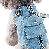 【Tona】犬ハーネス 猫ハーネス リード セット ペット用品 デニム 猫 小型犬 中型犬 ……