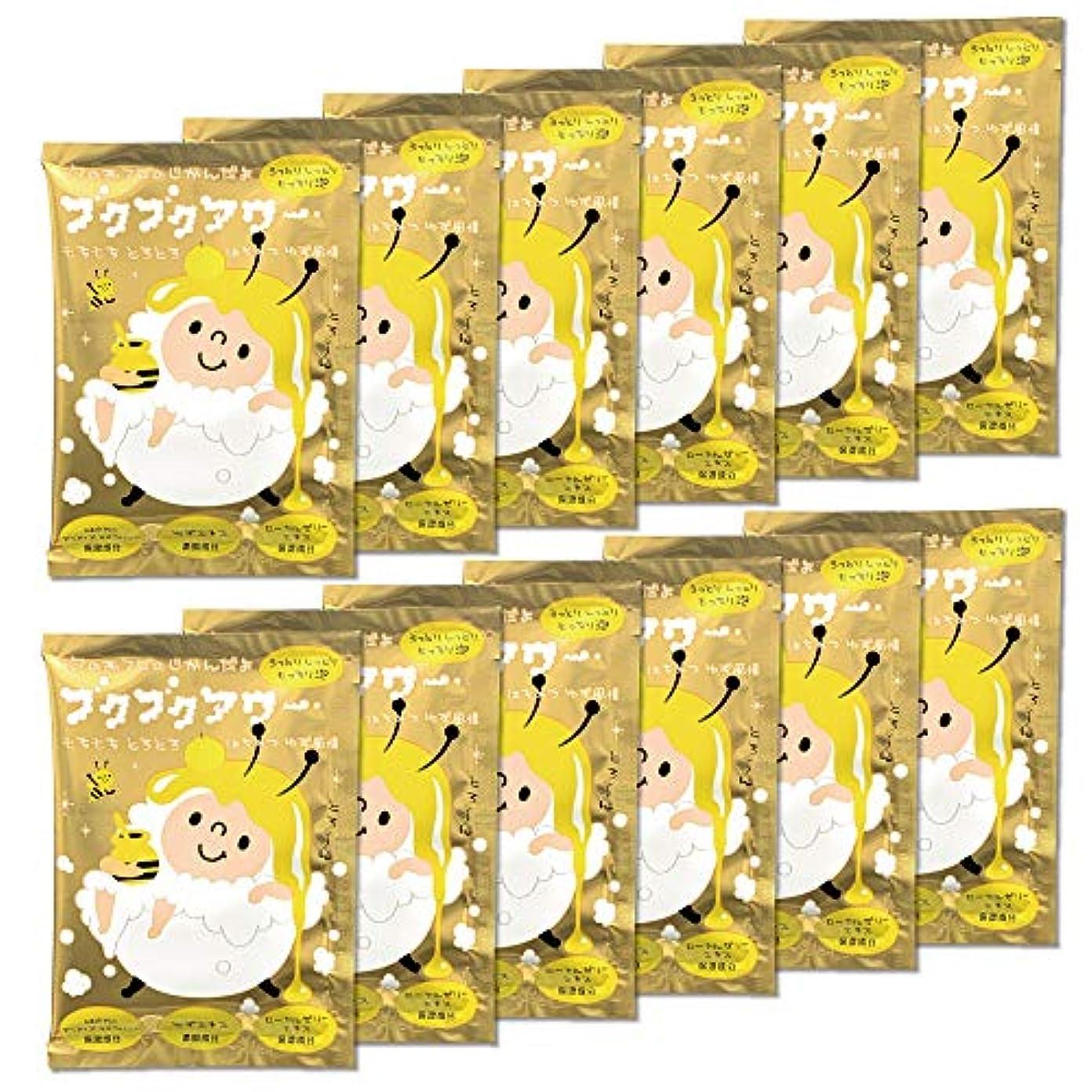ブクブクアワー はちみつ ゆず 風情 入浴剤 40g 1回分×12包入 大容量 まとめ買い