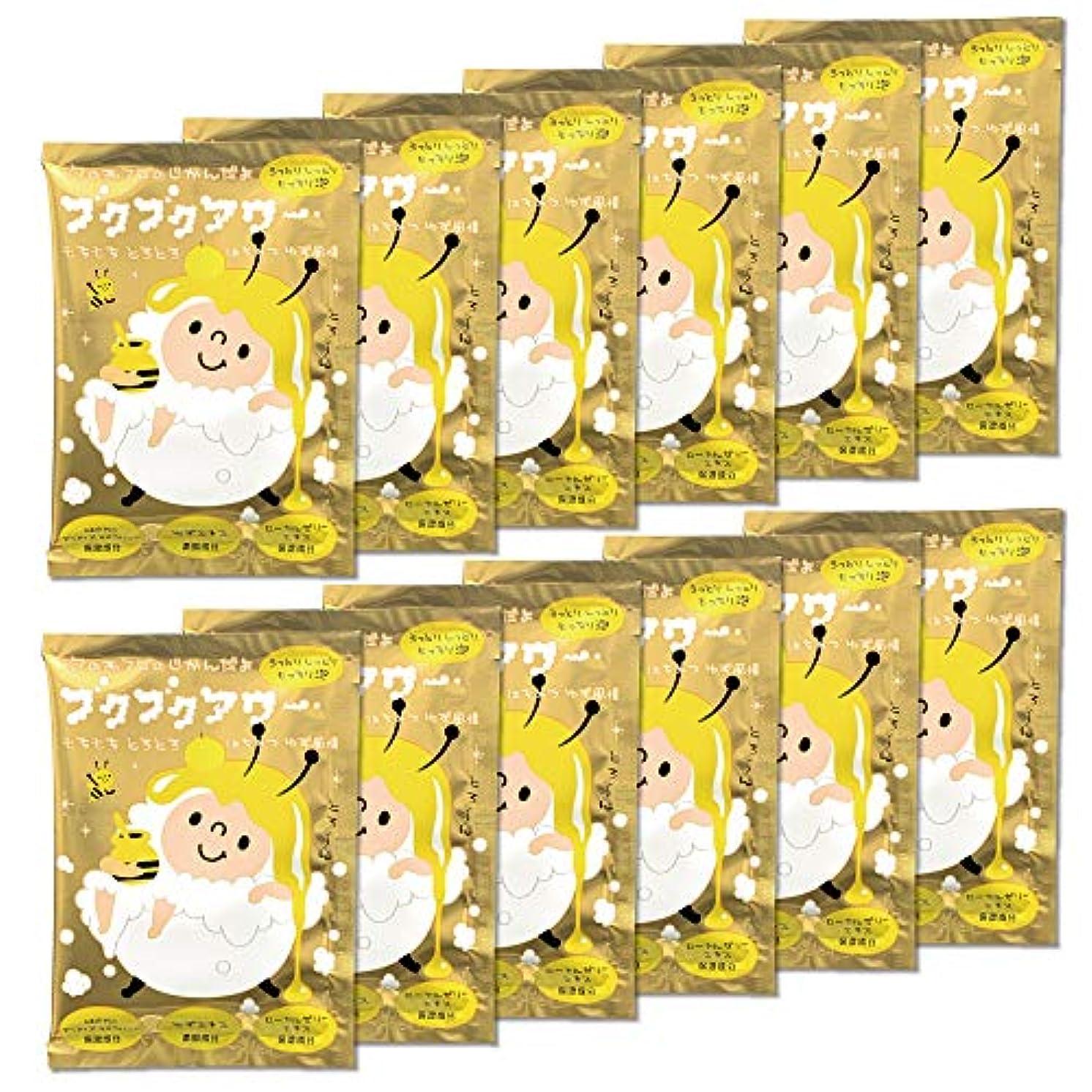 変位腹痛ストラップブクブクアワー はちみつ ゆず 風情 入浴剤 40g 1回分×12包入 大容量 まとめ買い