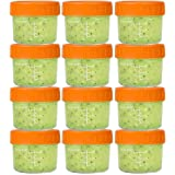 Glass Baby Food Storage Containers 4 oz Glass Baby Food Jars with Lids Reusable Leak-Proof for Infant and Babies Microwave an