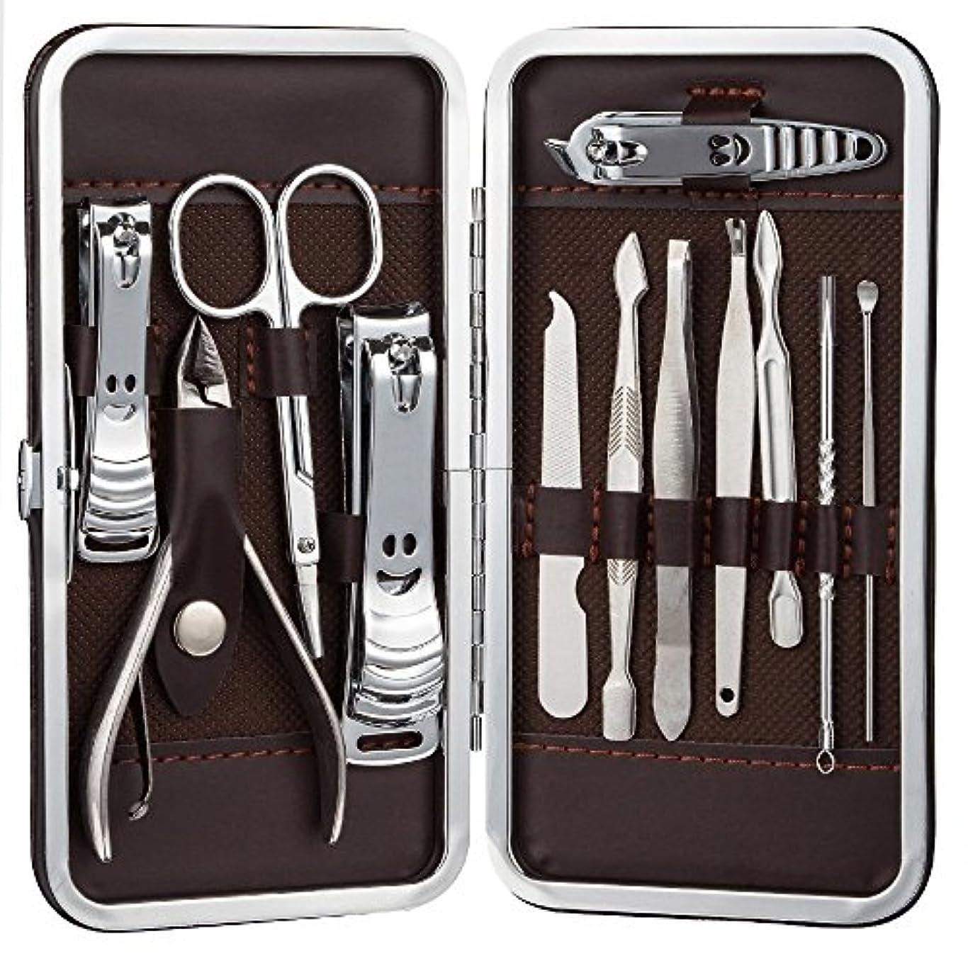 群がるキャラバンインテリアSTARTRIP ネイルはさみネイルクリッパートラベルセット、プロフェッショナルステンレスネイルケアセットベビーセーフネイルクリッパーパーソナルマニキュアセットペディキュアセットは、男性と女性のための指、手足で使用爪切り