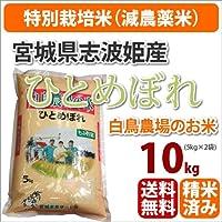 ≪特別栽培米(減農薬米)≫宮城県志波姫産白鳥農場のお米「ひとめぼれ」生産者「白鳥一彦」10kg