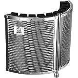 Neewer 折り畳み式のマイク音響絶縁シールド  軽量金属合金、アコースティックフォーム、取付金具とねじ付き マイクスタンド 5/8