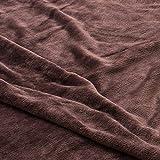 毛布 mofua(モフア)プレミアムマイクロファイバー毛布 Heatwarm発熱 +2℃ タイプ シングル ブラウン 60100106