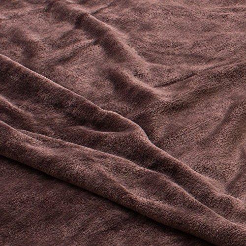 敷パッド mofua(モフア)プレミアムマイクロファイバー敷きパッド Heatwarm発熱 +2℃ タイプ ワイドキング 200×200cm     ブラウン 60117806