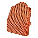 Sleep Science 小美人腰クッション 米国特許 腰痛対策 メッシュ オレンジ 高さ45cm