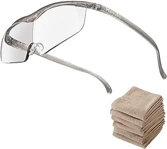 Hazuki ハズキルーペ ラージ 1.32倍 ブルーライト対応 クリアレンズ チタンカラー (全9色) 【正規代理店品・メーカー保証付】 セブンエステ製フェイスタオル付 [ ハズキ 拡大眼鏡 拡大鏡 拡大レンズ 拡大メガネ 眼鏡型 めがね型 メガネタイプ 眼鏡 メガネ ルーペ 精密作業 ブルーライト UVカット ]