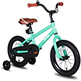 JOYSTAR Totem Kids Bike with Training Wheels for 12 14 16 inch Bike, Kickstand for 18 inch Bike (Blue Ivory Pink Green)
