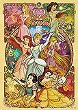 500ピース ジグソーパズル ディズニー 美しく咲き誇る乙女(ディズニープリンセス) (35x49cm)