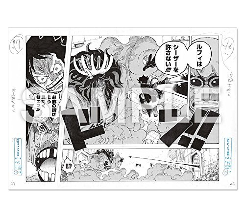 One Piece複製原稿ルフィvs Caesar