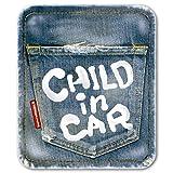 デニム風 CHILD IN CAR チャイルドインカー ステッカー チャイルドinカー 子供が乗っています/メイヴルアットホーム(CHILD)