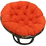 Hammock Papasan Chair Cushion Cotton Round Solid Color Cradle Hanging Swing Chair Pads for Indoor Garden D5/26 (Color : Orang