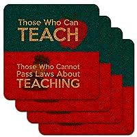 教育に関する法律を作ることができない人を教える人ロープロファイルノベルティコルクコースターセット