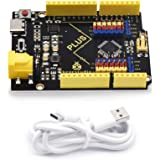 KEYESTUDIO Plus Board for Arduino UNO R3 ATmega328P USB Type-C Micro Controller Development Board with USB Cable, 2A Output C