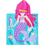 Vosarea Children Mermaid Cotton Bathrobe Unisex Hooded Cotton Bath Towel - 60cm