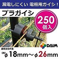 漏電しにくい電柵用ガイシ! φ18~26mm支柱用 軽くて工具不要! カンタンに設置できる プラガイシ (250)