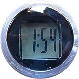 モーターヘッド バイク コンパクトクロック デジタル 防水 デジタル時計 ミニクロック (ブラック)