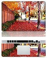 MacBook 風景 全面 ステッカー シール Autumn leaves (11インチ)