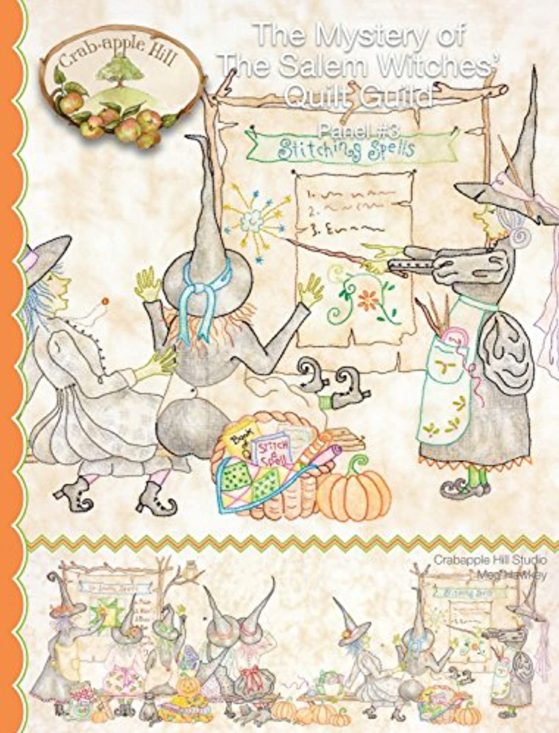 [クラブアップルヒルスタジオ]Crabapple Hill Studio The Mystery of The Salem Witches' Quilt Guild Panel #3 347 [並行輸入品]