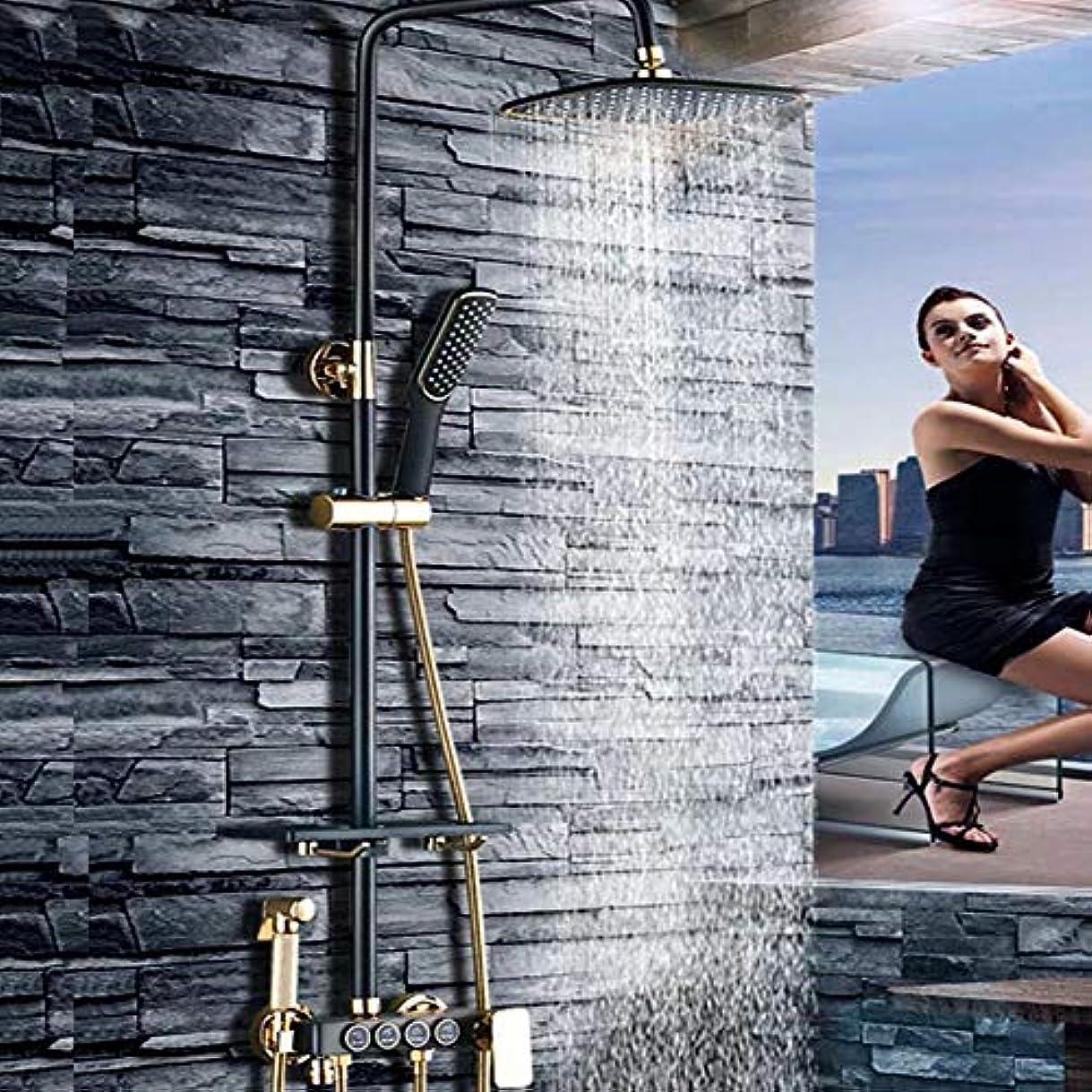 解読する変成器付録ブラックシャワーシェルフシャワーセットサイズとセット/全銅の蛇口浴室のシャワーブースターシャワーヘッド/ファイン銅のテーマ:* 900ミリメートル340 浴室用設備