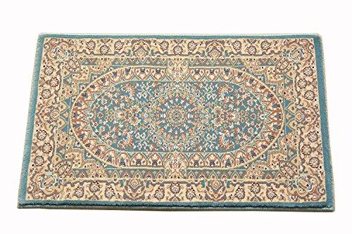 ウィルトン織 玄関マット 約 50X80 75万ノット 屋内 室内 サフィール5080 (ブルー)