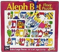 Aleph Betパズル、24Extra Large Pieces床ヘブライAlef Baisパズル