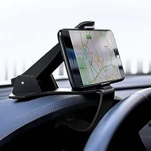 UGREEN 車載ホルダー クリップ式 カーマウント カーホルダー スマホスタンド HUD設計 取り付け簡単 ダッシュボードに取り付け iPhone Android 6.5インチまで多機種対応