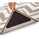Rug Grippers - Latest Upgraded Carpet Anti-Skid Pad with Strong Sticky Anti Slip Straight Carpet Tape for Curled Corners & Ed