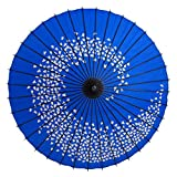 和傘 紙傘 尺5 桜渦 水色 継柄 踊り傘