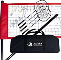Park & Sun Sports ポータブル アウトドア バドミントンネットシステム キャリーバッグとアクセサリー付属 スポーツシリーズ