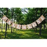 amleso 吊りガーランド 壁掛け飾り パーティー小物 飾り 婚約 結婚式 ハンギング お祝い 室内装飾 小道具 クラフト紙