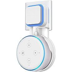 第3世代 echo dot with clock 壁掛けホルダー Dot3 ホルダー Dot Newモデル マウント 配線収納ホルダー Dot3 保護ケース (ホワイト)