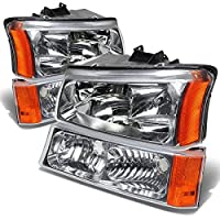 DNA Motoring HL-OH-CS03-4P-CH-AM Headlight Assembly Driver and Passenger Side [並行輸入品]
