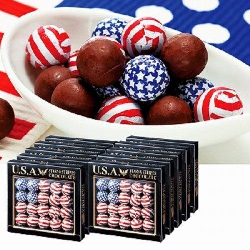 アメリカン フラッグボール チョコレート 10箱セット【アメリカ 海外土産 輸入食品 スイーツ 】