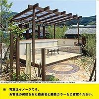 タカショー ポーチガーデン Jポーチ(独立タイプ) 1.5間×4尺 ブラウンスモーク ブラックエボニー