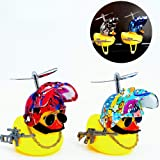 Genrics Bicycle Accessories Car Trim Suit Cool Glasses Duck with Propeller Helmet (2 Pack) Cool car Decoration Man Woman Chil