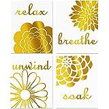 Minimalist Yoga Art Painting,Lotus Flower,Om Symbol,Seated Buddha Cardstock Art Print Watercolor Poster Yoga Studio Wall Art