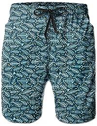 メンズ 水着魚パターン 男性スポツパンツボードショーツ 通気速乾